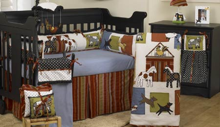 Horse Theme Themed Baby Nursery Crib Bedding Sets Window Valance Decorations Cowboy Cow Vintage