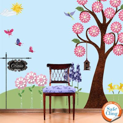 Splendid Garden Wall Decal Kit that I used to decorate my baby girl's blue nursery wall!