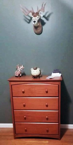 Deer nursery wall trophy