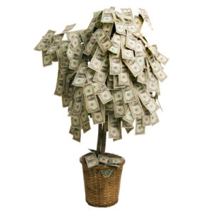 money tree shower baby bridal centerpiece decorations party money dollar bill tree