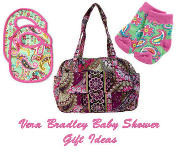 Vera Bradley baby shower gift basket ideas for a baby girl