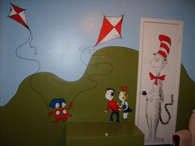 The Cat in the Hat - toy box and closet