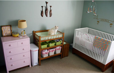 Our Baby Girl's Modern Kitty Cat Nursery Theme
