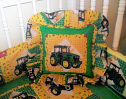 DIY handmade John Deere nursery décor made from Heartland fabrics