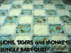 jungle baby quilt crib pattern panel block
