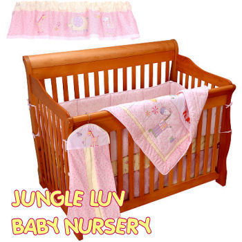 lambs & ivy jungle luv baby nursery bedding collection