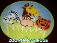 zoo animals safari monkeys giraffe lion tiger kids rug