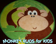 monkey monkeys kids childrens child rug