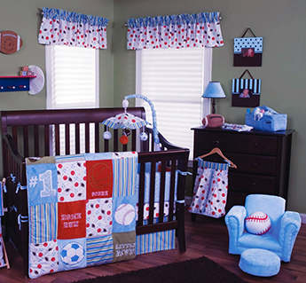 Most valuable player sports theme baby nursery decorating ideas for a boy or girl