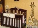 gender neutral leopard print giraffe safari jungle nursery animals wild zoo wall mural silhouettes painting technique gradient