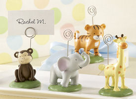 Jungle animal baby shower placecard holders