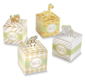 Baby jungle animal theme baby shower favor boxes
