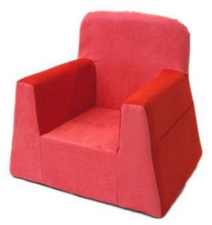rose pink red little reader baby chair soft lightweight