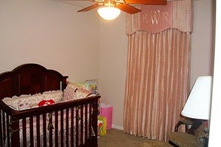 Elegant Personalized Pink Baby Girl Nursery Curtains Monogrammed with Kinley's Inititals