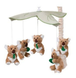 Australian Theme Koala bears baby nursery crib mobile