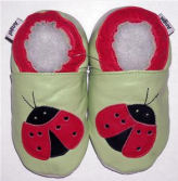 ladybug baby red black pink green mod crib soft crib shoes newborn infant