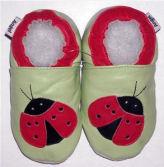 ladybug baby red black pink green mod crib soft crib shoes newborn infant
