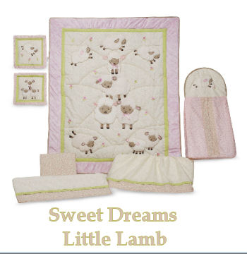 little lambs lamb baby bedding nursery theme crib mobile