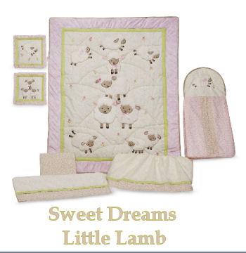 little lambs lamb baby bedding nursery theme crib mobile