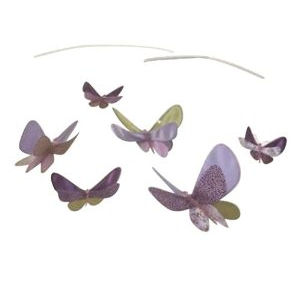 Lavender butterfly baby crib mobile for a butterfly nursery