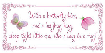 Lavender butterfly baby ladybug nursery wall quote decal stickers