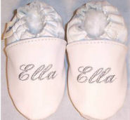 soft leather soled personalized baby infant crib shoes booties girls