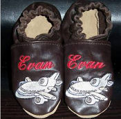 soft leather soled personalized baby infant crib shoes booties boys