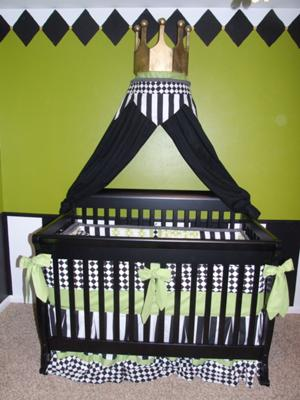 A Royal Frog Theme Baby Crib Fit for a Prince!