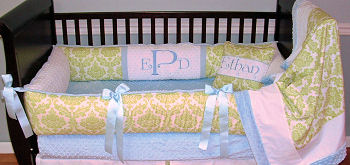 lime green white baby crib bedding set nursery pictures pink girl