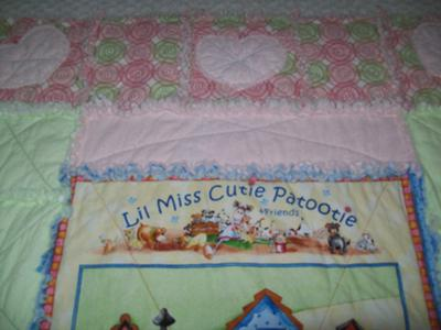 The border of the rag quilt that I made for my grandbaby girl.