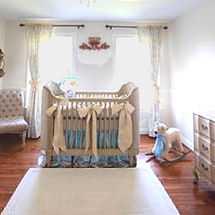 Elegant royal prince nursery