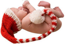 Christmas elf baby hat crochet patterns with cocoon for photo props