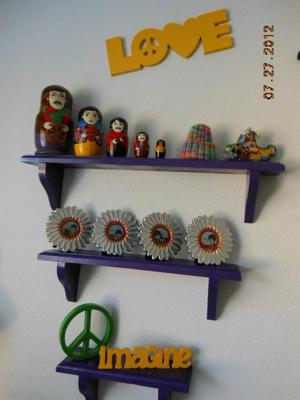 Beatles nesting dolls and wall decorations