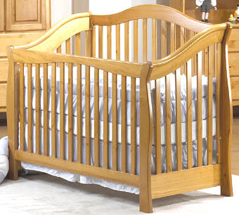 Madison Light Blonde Oak Finish baby crib