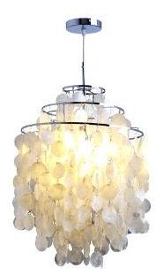 White capiz shell baby nursery chandelier or ceiling crib mobile