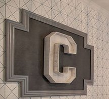 Large marquee wall letter initial C for a boy nursery wall