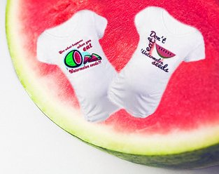 Funny Don't Eat the Watermelon Seeds Maternity t shirt top saying