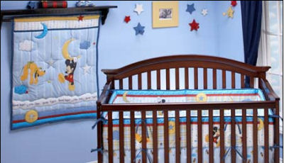 mickey mouse pluto nursery theme bedding set crib pictures