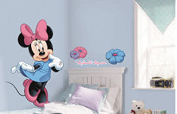 Baby Minnie Mouse Nursery Wall Decals with Name Stickers
