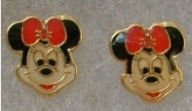 disney minnie mouse baby earrings children girls stud jewelry