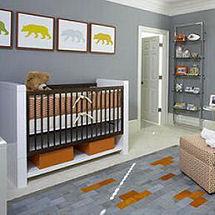 Modern baby bear nursery theme
