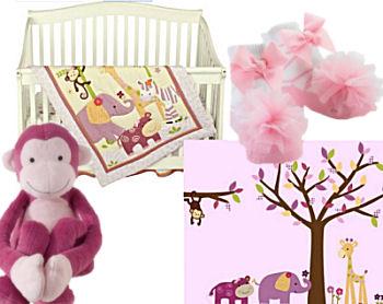 pink girl monkey business bedding pink monkey baby bedding crib nursery set