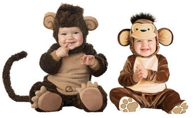 Comfortable monkey baby costumes