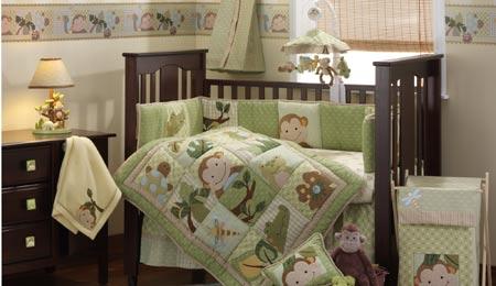 monkey baby bedding,dragonfly crib monkeys