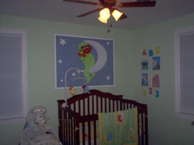 Neutral Moon and Stars Sesame Street Baby Nursery Theme