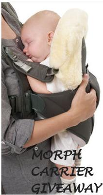 Morph Baby Carrier w Harness, Pod and Sheepskin Liner.  A great baby carrier for dads and moms.