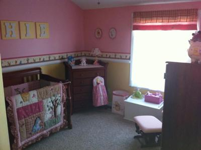 A sweet pink Winnie the Nursery for my baby girl, Sophie!