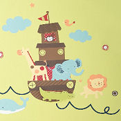 Noah s Ark baby nursery wall stickers and decals for a Noahs Ark theme room