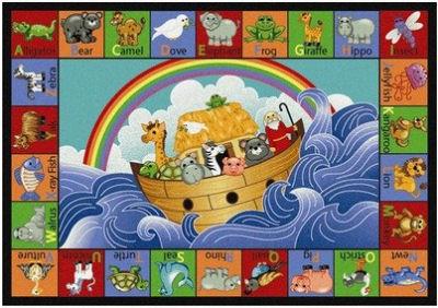 Noahs Ark baby nursery area rug