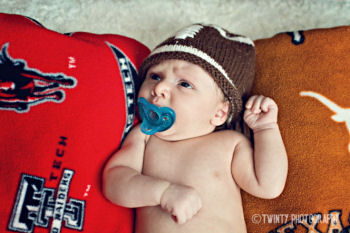 Baby boy football theme newborn photo shoot props ideas